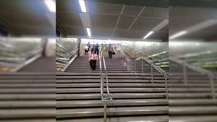 The Central Secretariat Metro Station has seen some of its faithful users come back. An interchange Station, in normal times (during peak hours), these stairs are crowded with commuters