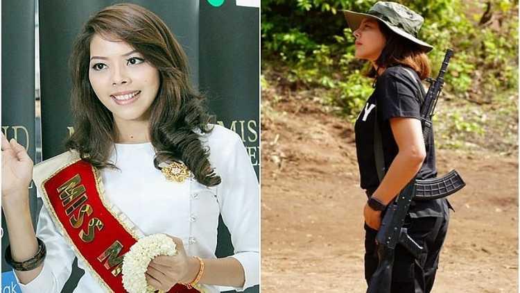 Burmese beauty queen Htar Htet Htet