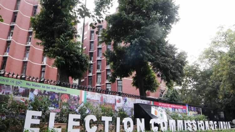 The Election Commission office in Delhi