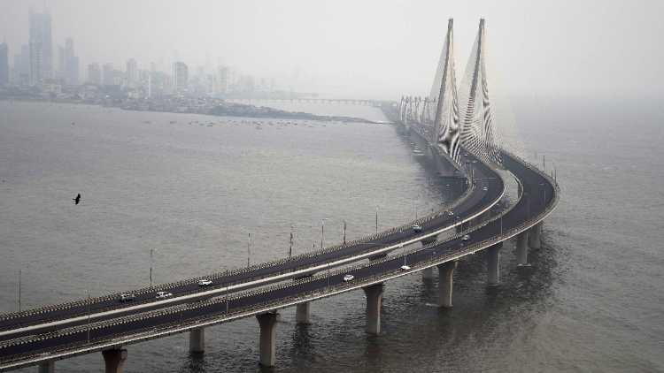Bandra-Worli Sea Link (BWSL)Closed For 2 Days due to the formation of Cyclone Tauktae in the Arabian Sea, in Mumbai on Saturday