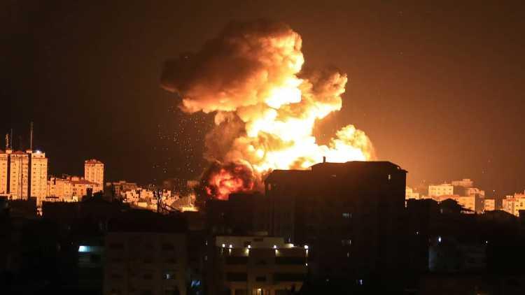 Airstrikes during the Israel-Hamas bombings