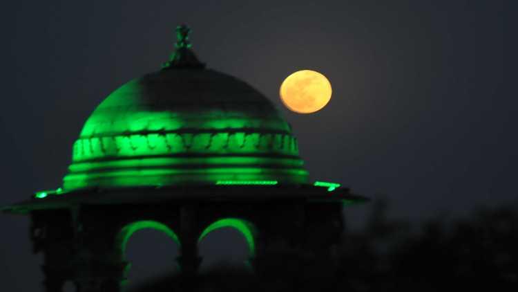 Flower Moon over South Block, New Delhi