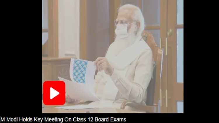 Prime Minister Narendra Modi chairing the meeting virtually