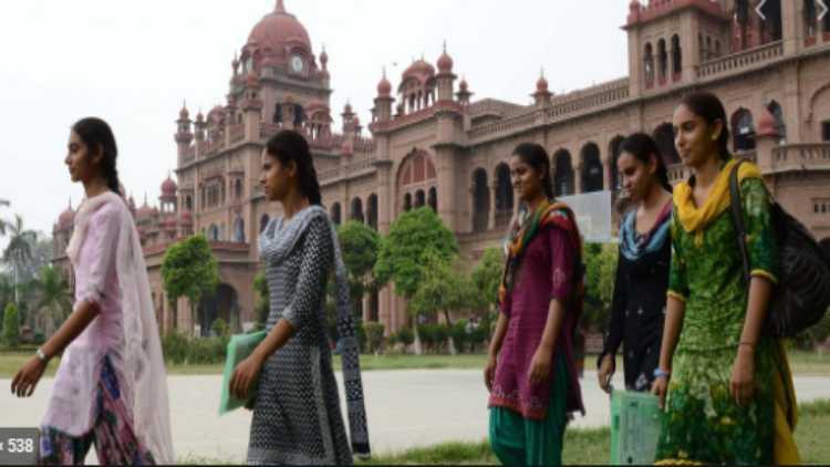 A scene in a College