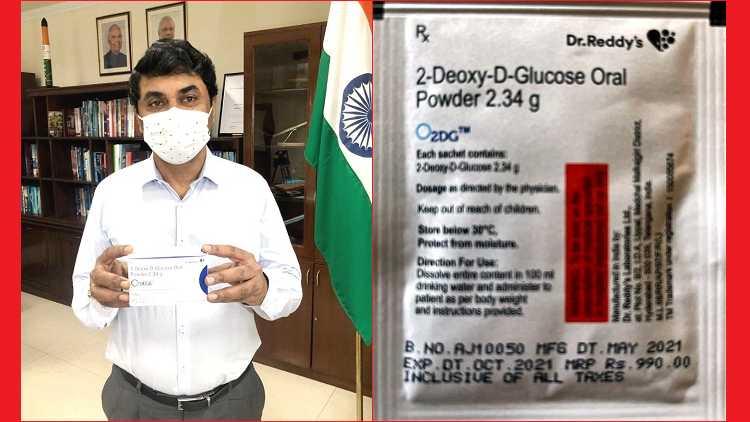 DRDO chairman Dr. G Satheesh Reddy unveils DRDO 2-DG anti-COVID Drug in New Delhi on May 17