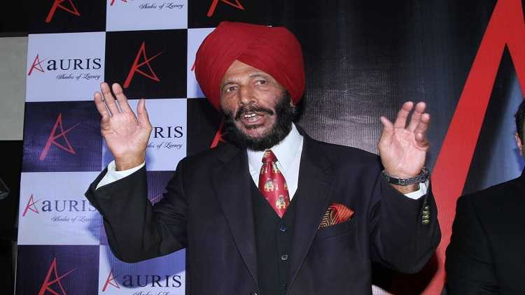 Former Indian track and field sprinter Milkha Singh