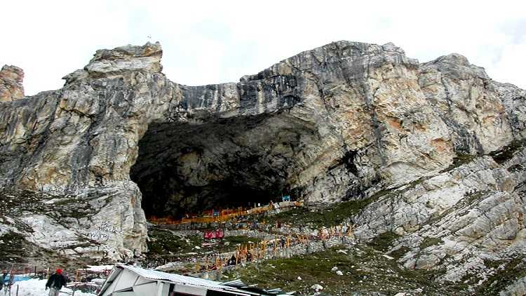 The cave temple of Lord Amarnath