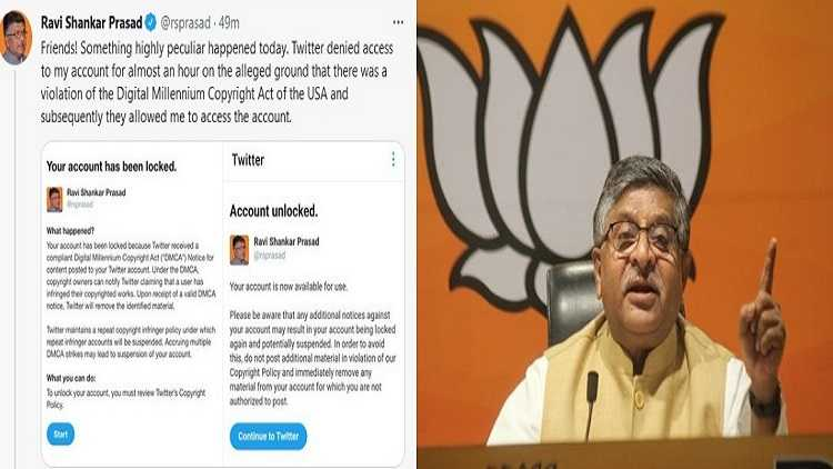 Twitter blocks IT Minister account