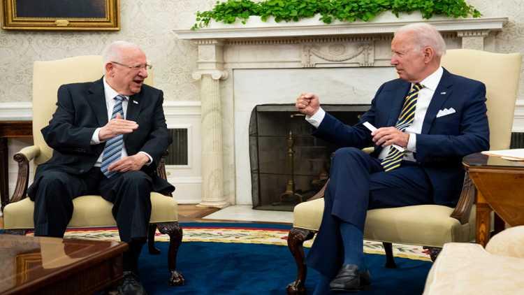 US President Joe Biden & Israel President Reuven Rivlin