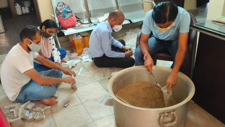 A kitchen in tribal village