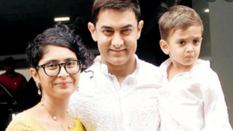 Amir Khan and Kiran Rao with their son Azad Rao-Khan