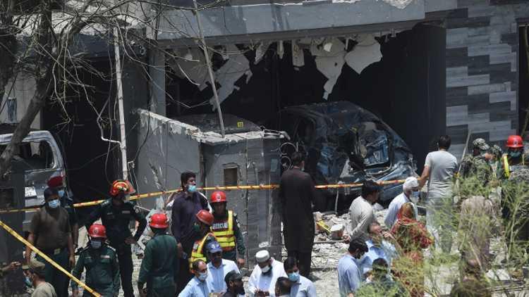 Pak claims India behind blast at Hafiz Saeed's residence