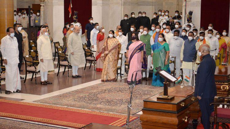 The swearing in ceremony at Rashtrapati Bhawan (PIB)
