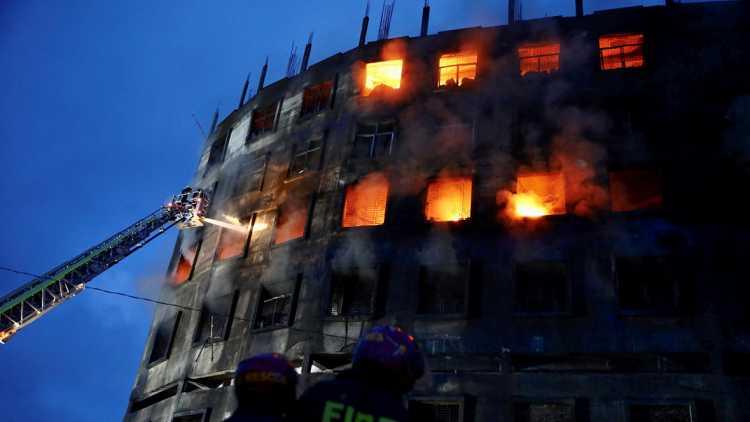 Fire at Bangladesh juice factory