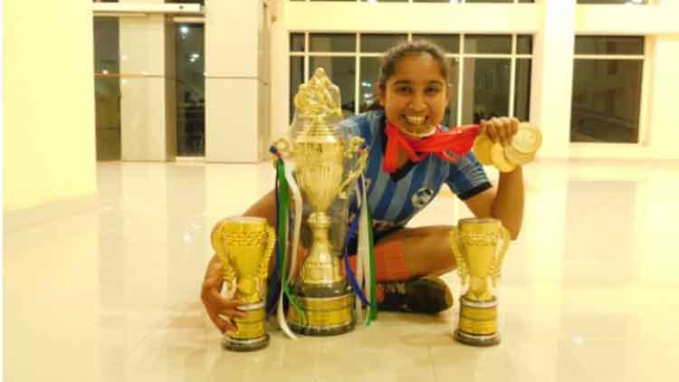 Tahirah Rehman with her trophies