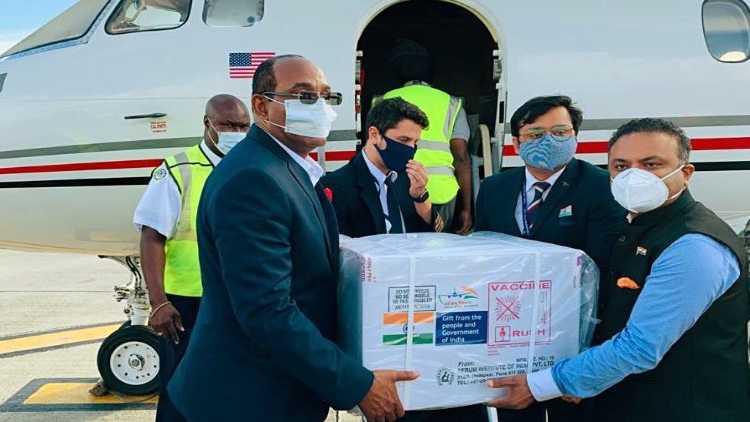 Antigua & Barbuda receiving made in India Covid-19 vaccines, in Antigua
