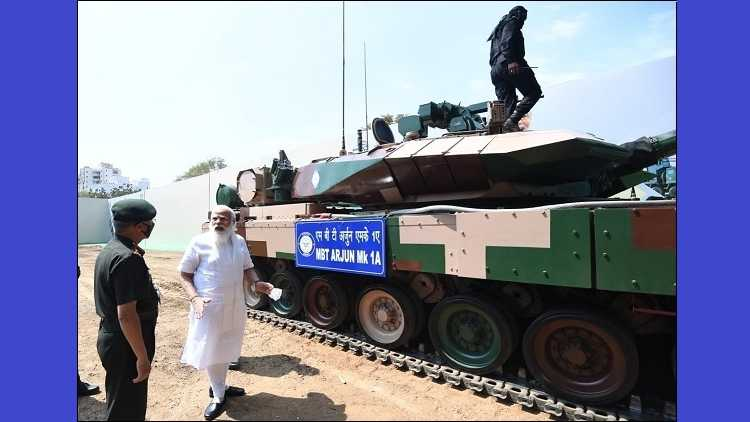 PM Modi hands over indegenously developed Main Battle Tank Arjun 1A (MK-1A) to Army in Chennai on Sunday, 14th February 2021