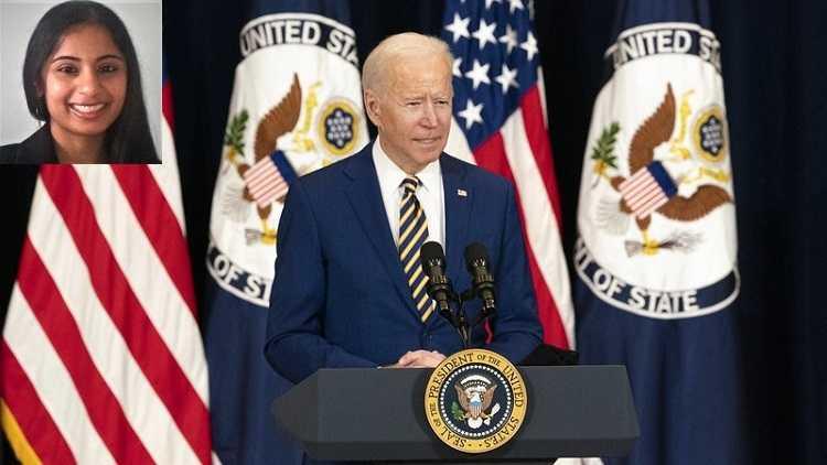 US President Joe Biden & Rupa in inset pic