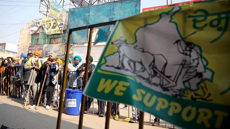 Farmers' protest at Singhu Border, Delhi
