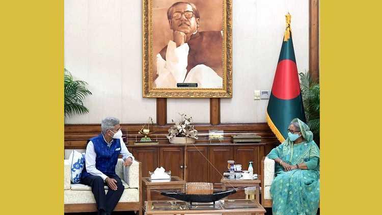 Foreign Minister Jaishankar with Bangladesh PM Sheikh Hasina