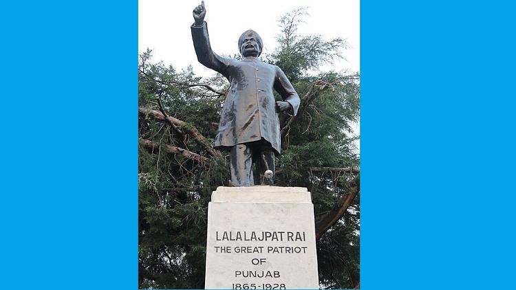 A statue of freedom fighter Lala Lajpat Rai in Shimla, Himachal Pradesh