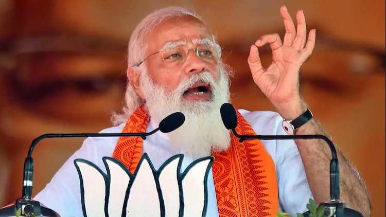 PM Modi during rally in Bengal