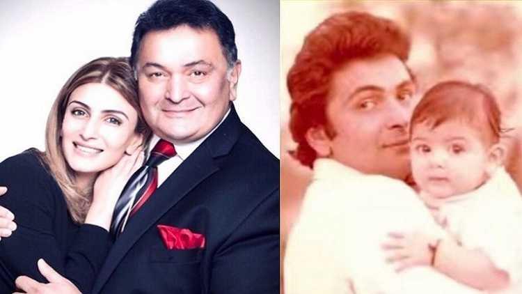 Riddhima Kapoor with father Rishi Kapoor