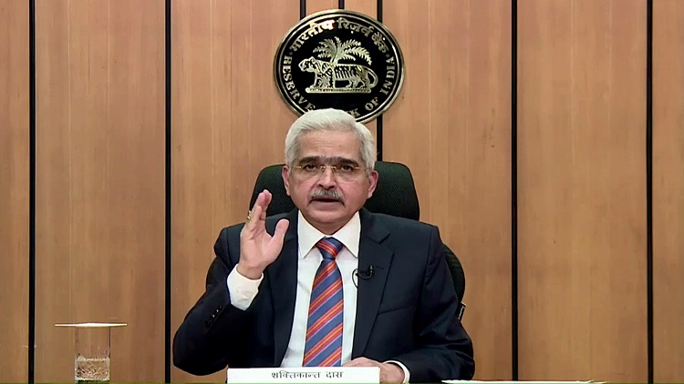 RBI Governor Shaktikanta Das addresses a media conference in Mumbai on Friday