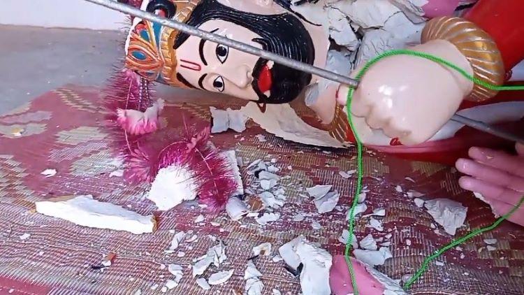 The Ram Peer Mandir at Badin in Sindh, Pakistan, was vandalized in Oct. 2020