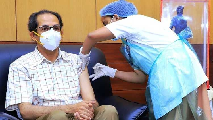 Maharashtra Chief Minister Uddhav Thackeray took his second dose of the COVID-19 vaccine in Mumbai on Apr 8. He took the first dose on March 11, 2021
