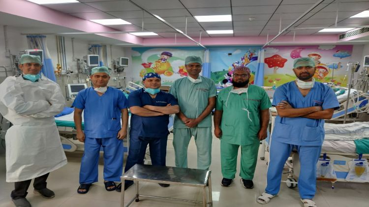 The AMU heart specialists' team
