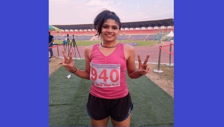 Sprinter Bushra Gauri Khan