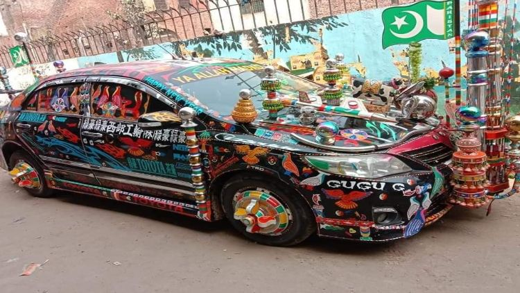 Over-decorated car