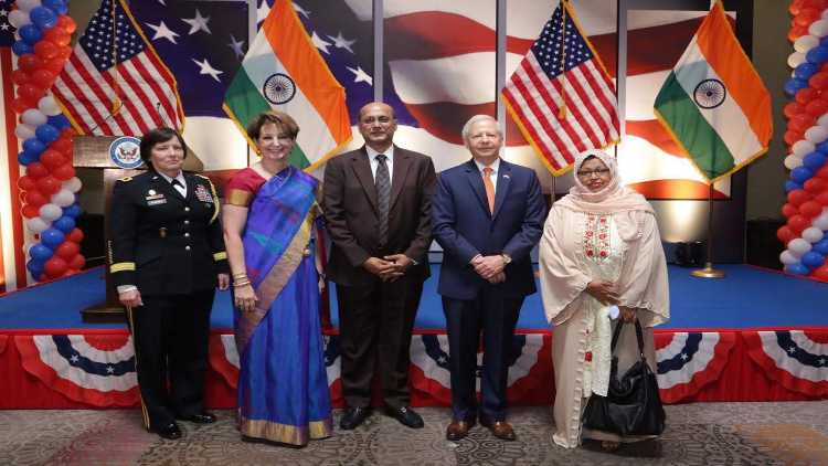 Shaista Amber with staff of the US Embassy in Delhi